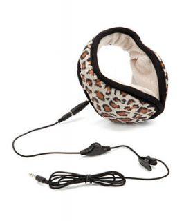 Skinny Dip Brown Leopard Print Ear Muff Headphones