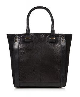 EST.1969 Black Real Leather Winged Shopper