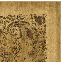 Lyndhurst Collection Paisley Beige/ Multi Rug (7' Square) Safavieh Round/Oval/Square