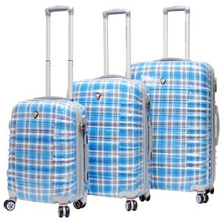 CalPak Impulse Plaid Lightweight Hard side 3 piece Luggage Set CalPak Three piece Sets