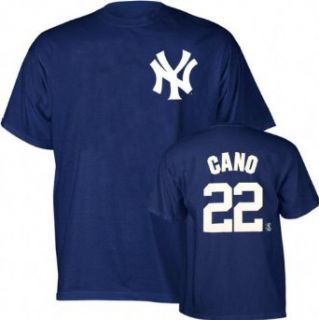 Robinson Cano Majestic Name and Number New York Yankees T Shirt   XX Large  Sports Fan T Shirts  Clothing