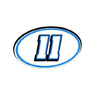11 Number Jersey Racing   Blue   Window Bumper Sticker Automotive