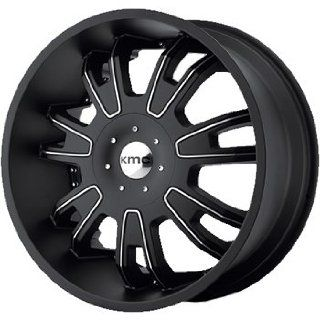 KMC KM664 22x9.5 Black Wheel / Rim 5x115 & 5x5.5 with a 15mm Offset and a 77.80 Hub Bore. Partnumber KM66422926715 Automotive