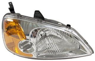OE Replacement Honda Civic Passenger Side Headlight Assembly Composite (Partslink Number HO2503116) Automotive