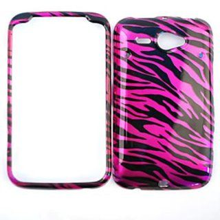 CELL PHONE CASE COVER FOR HTC STATUS CHACHA TRANS HOT PINK ZEBRA PRINT Cell Phones & Accessories