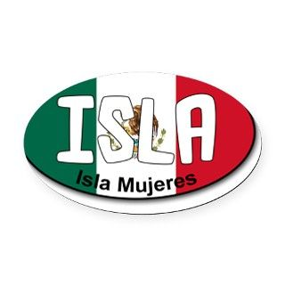 Isla Mujeres   Carribbean Oval Car Magnet by ADMIN_CP33714892