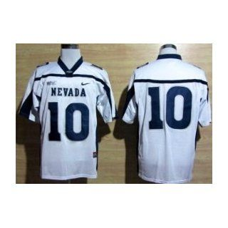 Colin Kaepernick #10 Nevada Wolf Pack White Jersey Sz 50 Large (All Letters and Numbers Sewn) Sports & Outdoors