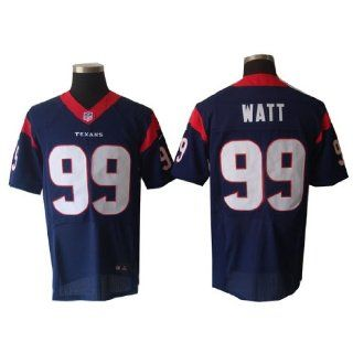 Kezivs NFL Houston Texans #99 J.J Watt Elite Blue Jersey (52/XXL) Sports & Outdoors
