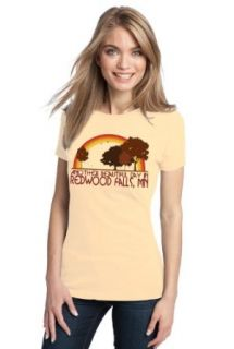 ANOTHER BEAUTIFUL DAY IN REDWOOD FALLS, MN Retro Ladies' T shirt / Minnesota City Pride Tee Clothing