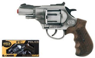Die cast metal 12 shot ring caps revolver GONHER shot pistol revolver rifle gun collection 38_1 police made in EUROPE. Toys & Games