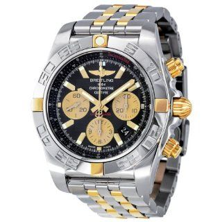 Breitling Chronomat 44 Black Dial Two Tone Automatic Mens Watch IB011012 B968TT Breitling Watches