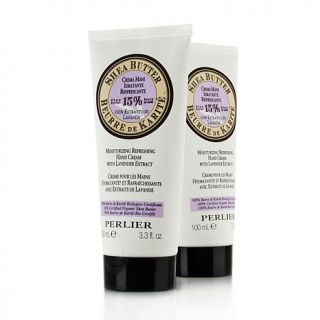 Perlier Shea Butter Hand Cream with Lavender Extract   2 Pack