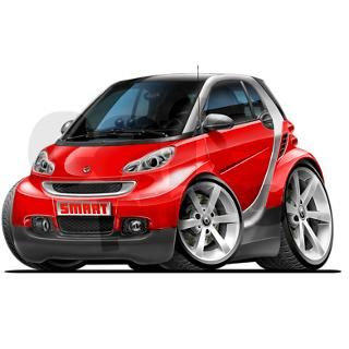 Smart Red Car png Oval Car Magnet by Admin_CP15844698