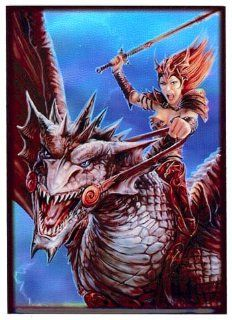 Max Protection 50 Count Standard Card Sleeves Dragon Rider Toys & Games