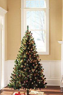 Holiday Time Pre Lit 6.5' Colorado Pine Artificial Christmas Tree, Multi Color Lights