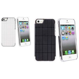 CommonByte For iPhone 5 Gen 5th G White+Black 2x Metal Vinyl Hard Skin Cover Case Accessory Cell Phones & Accessories