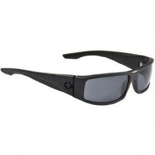 Spy OpticCooper Polarized Sunglasses,Matte Black Frame/Grey Lens,one size Spy Clothing
