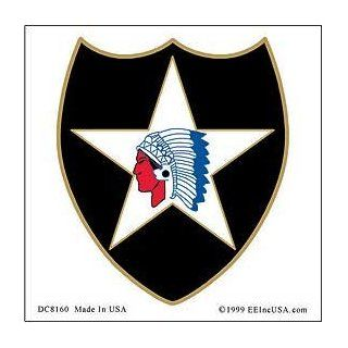 US Military Armed Forces Window Sticker Decal   Army  USN Navy  USMC Marine Corps  USAF Air Force  USCG Coast Guard   2nd Infantry Division Logo Automotive