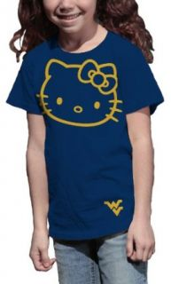 NCAA West Virginia Mountaineers Hello Kitty Inverse Girls' Crew Tee Shirt Clothing