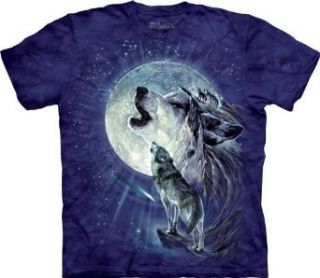 The Mountain Full Moon Gravity Wolf Child T shirt Clothing