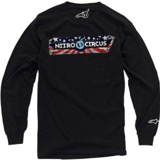 Alpinestars Sportin Wood Long Sleeve T Shirt , Gender Mens/Unisex, Primary Color Black, Size Lg, Distinct Name Sportin Wood Black INCI7114210AL Automotive