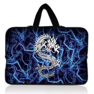 "NEW Blue & white Dragon 13"" 13.3"" inch Notebook Neoprene Soft Laptop Sleeve Case Carrying Bag Cover Pouch with Hidden Handle for Apple Macbook Pro Air 13/ Sony VAIO/Samsung/DELL inspiron Vostro Studio XPS 13/HP Folio Envy 13 Pavilion DV3/TOSH"