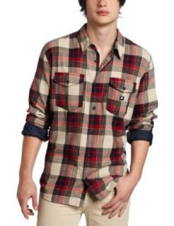 DC Men's Hackelman Long Sleeve Shirt, Natural, Medium Clothing