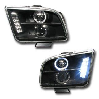 Ford Mustang Headlights Black Halo Pro LED Headlights 2005 2006 05 06 Automotive