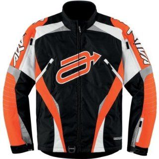 Arctiva Comp 7 Jacket , Apparel Material Textile, Distinct Name Black/Orange, Primary Color Black, Size XL, Gender Mens/Unisex 3120 0961 Automotive