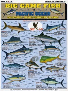 Tightlines Chart #2   Big Game Fish Id Chart   Pacific Ocean Sports & Outdoors