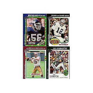 2004 Topps All time Fan Favorites Football 85 Card Complete Mint Set Loaded with Stars and Hall of Famers Including Joe Namath, Joe Montana, Joe Greene, Dan Fouts, Ken Stabler, Lawrence Taylor, Roger Staubach, Tony Dorsett, Y.A. Tittle and Many Others Sp