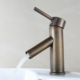 Fast Shipping + Free tracking number , Antique & Exquisite Retro Style Bathroom / Kitchen Basin Sink Bathtub Faucet , High Quality 90 Degree Brass Single Handle Bronze Color Faucets Mixer Taps Hose Specification G 1 / 2 G 3 / 8