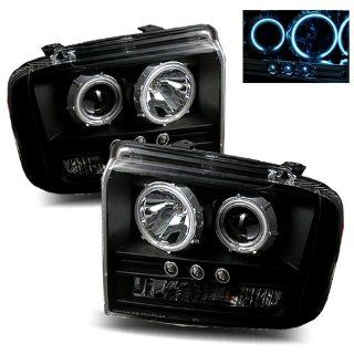 Ford F 350 Super Duty Black CCFL Halo Projector Headlights   Fits All Automotive