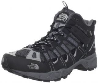 The North Face Men's Ultra 105 GTX XCR Mid Running Shoe,Black/Griffin Grey,12.5 M US Shoes