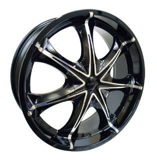 "18x7.5 Forte F42 ""Haze"" (Black Mirror) Wheels/Rims 5x114.3/108 (F42 87503BM) Automotive"
