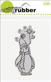 Stampendous Cling Rubber Stamp, Penguin Star Arts, Crafts & Sewing