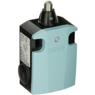Siemens 3SE5 122 0LC02 International Limit Switch Complete Unit, Rounded Plunger, 56mm Metal Enclosure, High Grade Steel Plunger, 3mm Overtravel, Snap Action Contacts, 1 NO + 2 NC Contacts