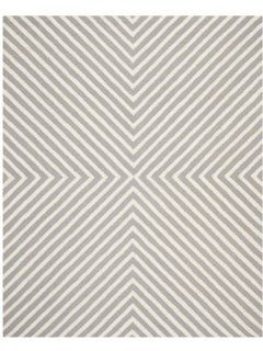 Safavieh CAM129D Cambridge Collection Handmade Wool Area Runner, 2 Feet 6 Inch by 10 Feet, Silver and Ivory