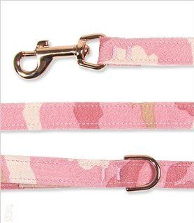 Dog Leash Ultrasuede   Light. Pink Camo 4'  Pet Leashes