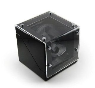 Modern Midnight Black Two Watch Winder w. Carbon Fiber Interior NOW ONLY $129.99 Jewelry