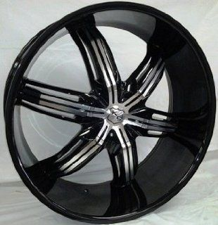 K9 K627 26X10+18 5X127+5X139.7 C.B 78.10 MACHINE BLACK + LIP [DODGE, TOYOTA, HONDA, CADILLAC] Automotive