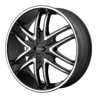 22x9.5 KMC Splinter (Gloss Black w/ Milled Accents) Wheels/Rims 6x135/139.7 (KM67822967315) Automotive
