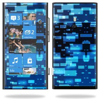 Protective Vinyl Skin Decal Cover for Nokia Lumia 800 4G Windows Phone Cell Phone Sticker Skins Space Blocks Cell Phones & Accessories