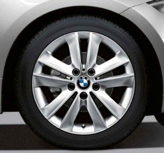 "BMW Genuine 17"" light alloy Wheel Rim V spoke 141 128i 135i 128i 135i E82 E88 Automotive"