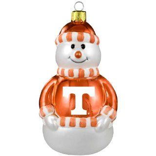 NCAA Tennessee Volunteers Blown Glass Snowman Ornament  Sports Fan Hanging Ornaments  Sports & Outdoors