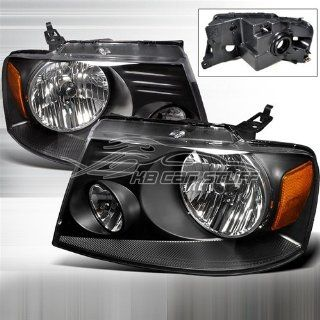 Ford F 150 2004 2005 2006 2007 2008 Euro Headlights   Black Automotive