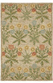 Safavieh Blossom Collection BLM151A Handmade Beige and Multi Hand Spun Wool Area Rug, 4 Feet by 6 Feet