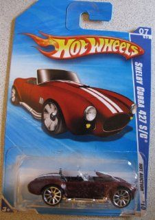 Hot Wheels 2010 Shelby Cobra 427 S/C #165 MAROON Hot Auction 7/10 Toys & Games