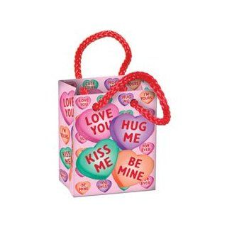 Candy Heart Mini Gift Bag Party Favors Food Pranks (4 Per Package) Pkg/1 Toys & Games