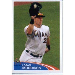 2012 Topps Baseball MLB Sticker #169 Logan Morrison Miami Marlins Sports Collectibles
